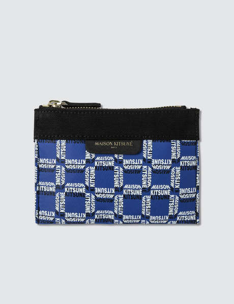 메종 키츠네 Maison Kitsune All-Over Rectangle Small Pouch