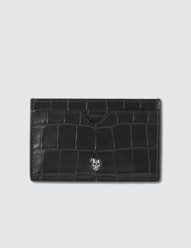 Alexander McQueen Croc Effect Leather Card Holder