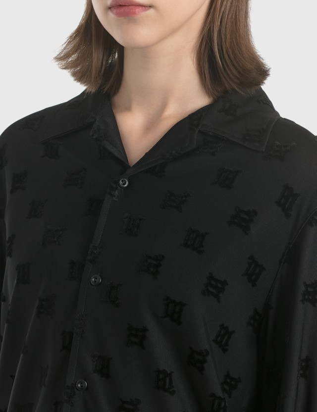 Misbhv Velour Monogram Shirt