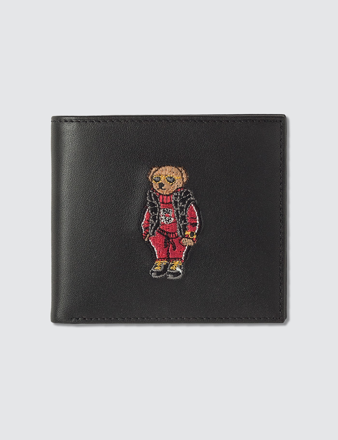 Embroidered Polo Bear Billfold Wallet