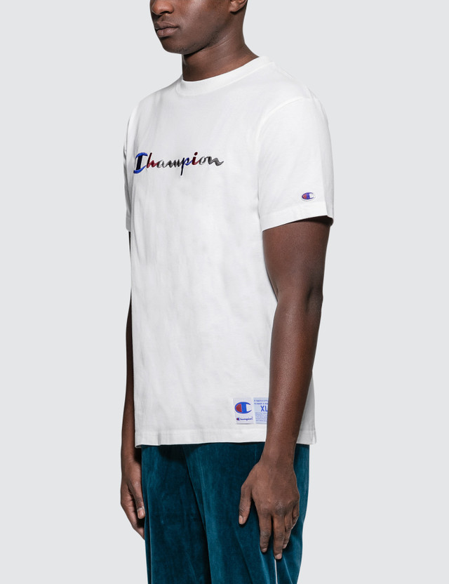 Champion Japan Tri-Color Script Embroidery S/S T-Shirt