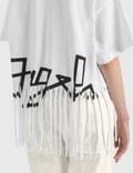 Palm Angels Fringed Desert 로고 티셔츠 White Black Women