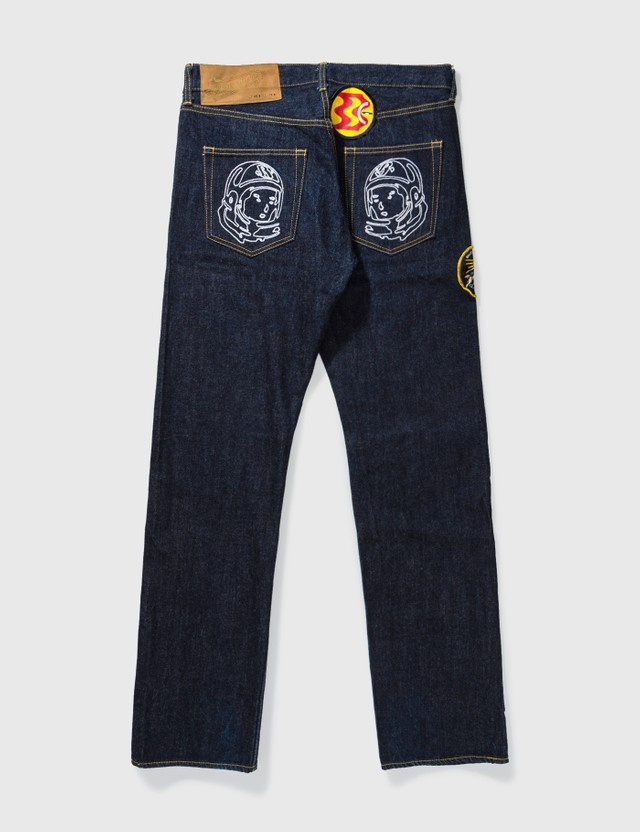 Billionaire Boys Club One Washed Embroidery Jeans Indigo Archives