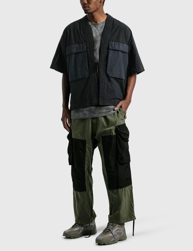 Nemen Short Sleeve Cargo Kimono 111 Ink Black Men