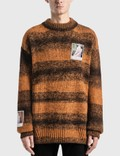 Raf Simons Polaroids Striped Sweater Picutre