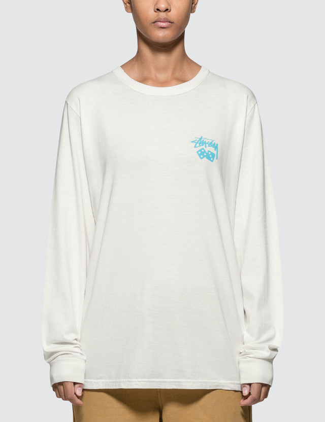 Stussy Dice Pig Dyed Long Sleeve T-shirt