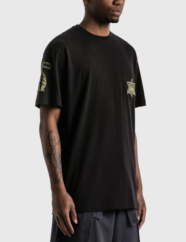 Maharishi Star Patch T-shirt Black Men