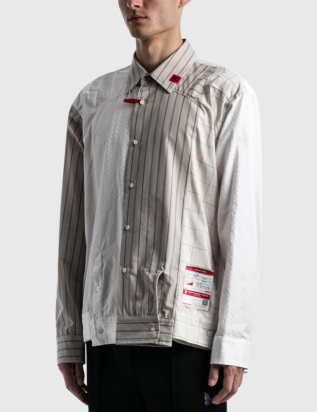 Maison Mihara Yasuhiro Sleeves Docking Shirts White Men