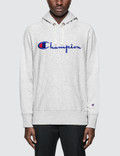 Champion Reverse Weave Script Logo Hoodie Picture