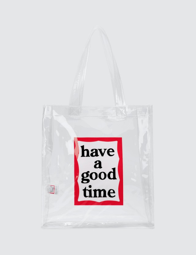 Have A Good Time PVC Clear Tote Bag