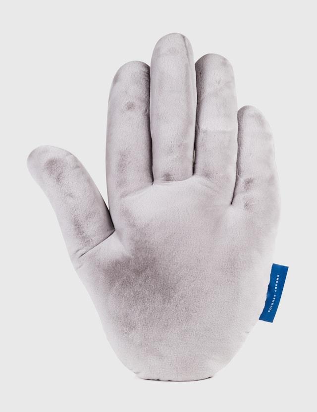 Crosby Studios Plush Hand Pillow Grey Unisex