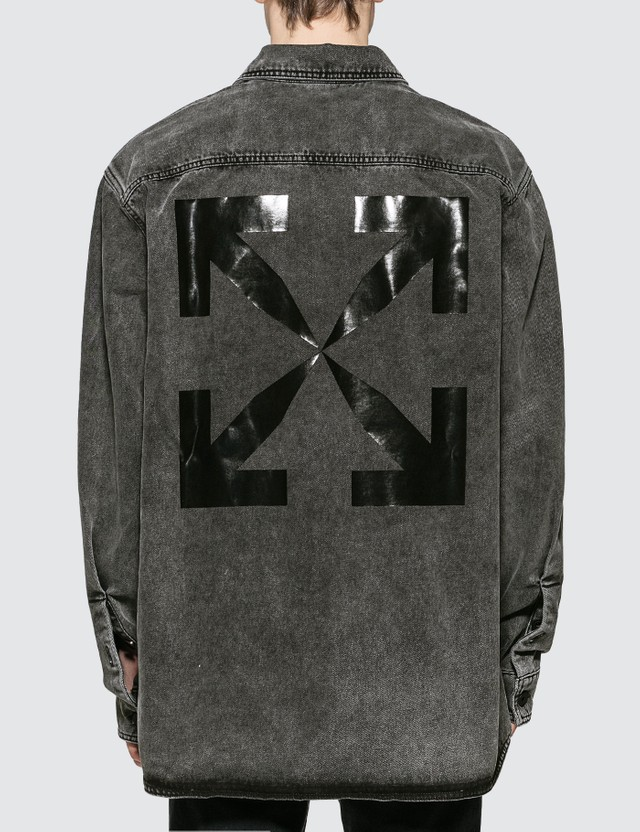 Off-White Arrow Oversize Denim Shirt
