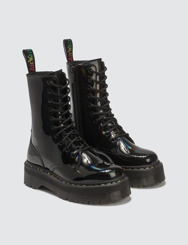 Dr. Martens Jadon Hi Rainbow Patent Boots
