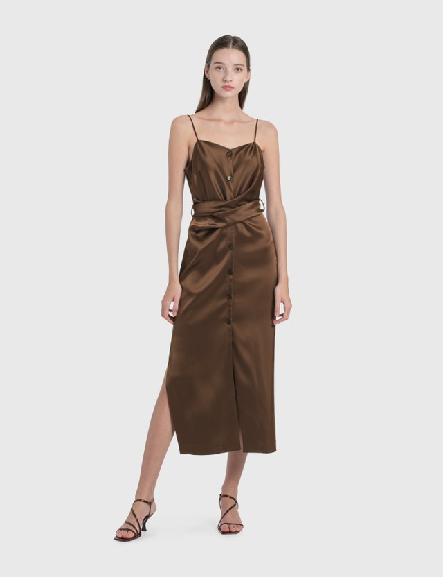 Nanushka Sayan Dress Brown Women