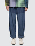 JW Anderson Shaded Fold Front Denim Trousers Picture