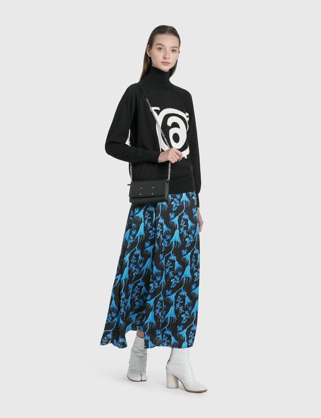 MM6 Maison Margiela Logo Roll Neck Pullover Black Women