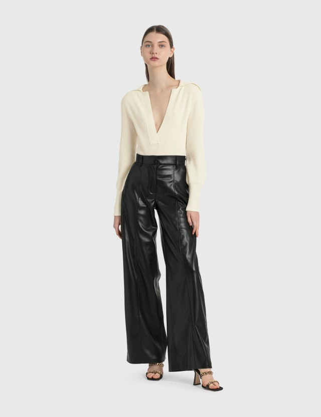 Nanushka Cleo Vegan Leather Pants Black Women