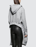 Unravel Project Terry B Hoodie Open Cape Grey Women