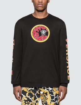 Versace Japanese Print Long Sleeve T-shirt