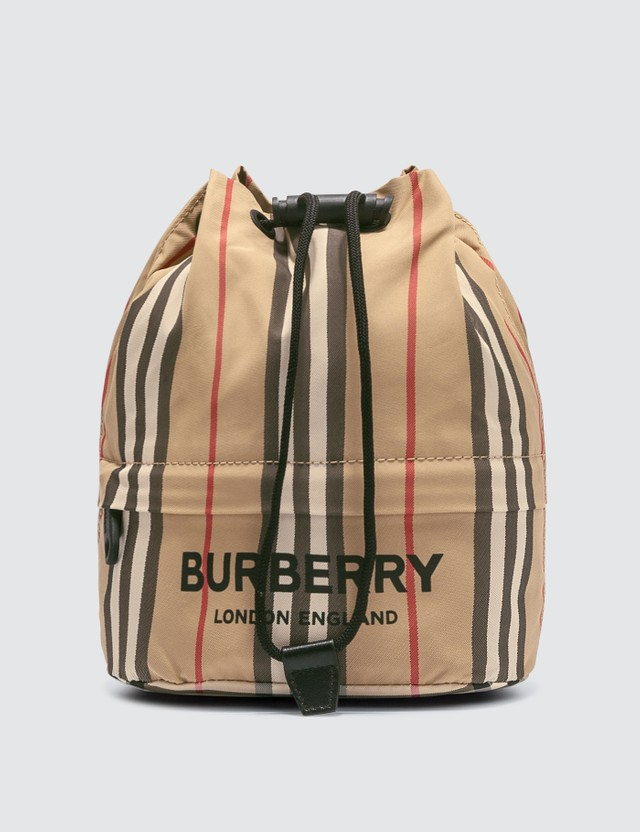 Burberry Nylon Check Drawstring Pouch