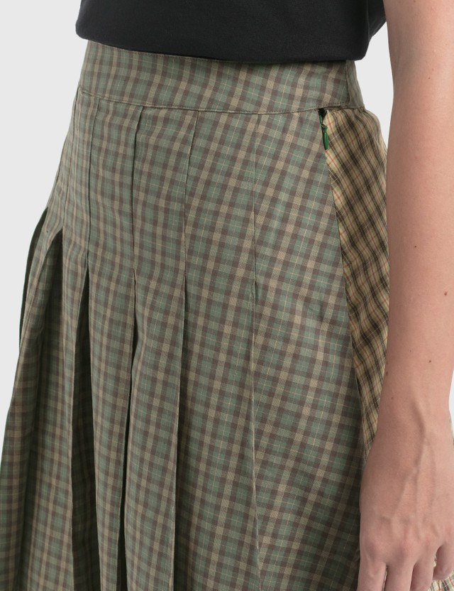 Stussy Mix Plaid Pleated Skirt