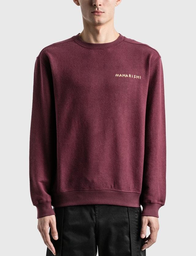 Maharishi Story Cloth Scenic Crew Sweater =e35 Men