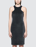 Alexander Wang.T Stripe Velour Racerback Tank Dress Picutre