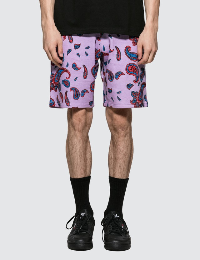 Have A Good Time Paisley Mini Frame Sweat Shorts