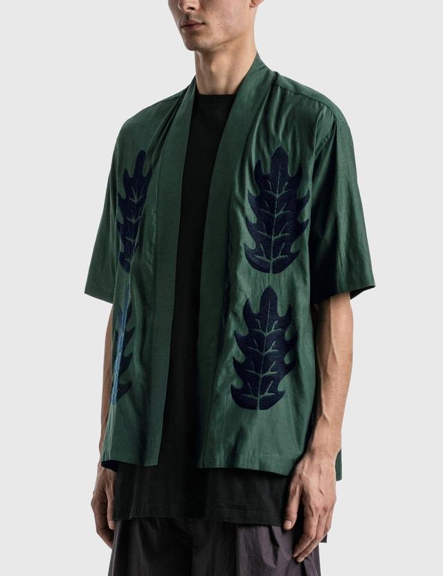 """Sasquatchfabrix. """"Hiiragi"""" H/S Haori Green Men"""