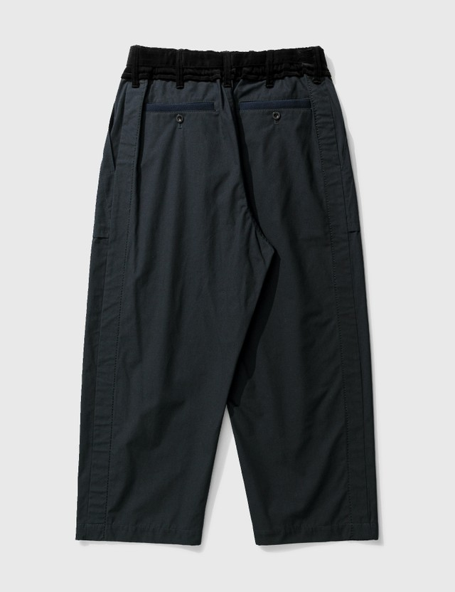 Sacai Cotton Oxford Pants Navy Men