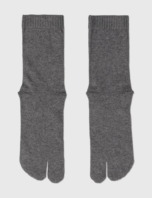 Maison Margiela Tabi Socks Dark Grey Women