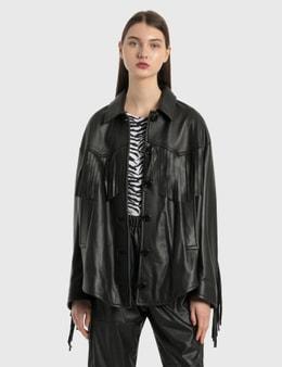 MM6 Maison Margiela Fringe Leather Jacket