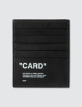Off-White Quote Card Holder Picutre