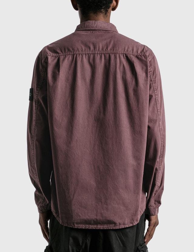 Stone Island Double Pocket Button Shirt Dark Burgundy  Men