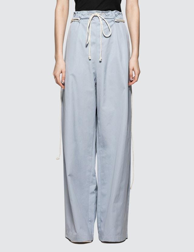 Ambush Drawstring Pants Light Blue Women