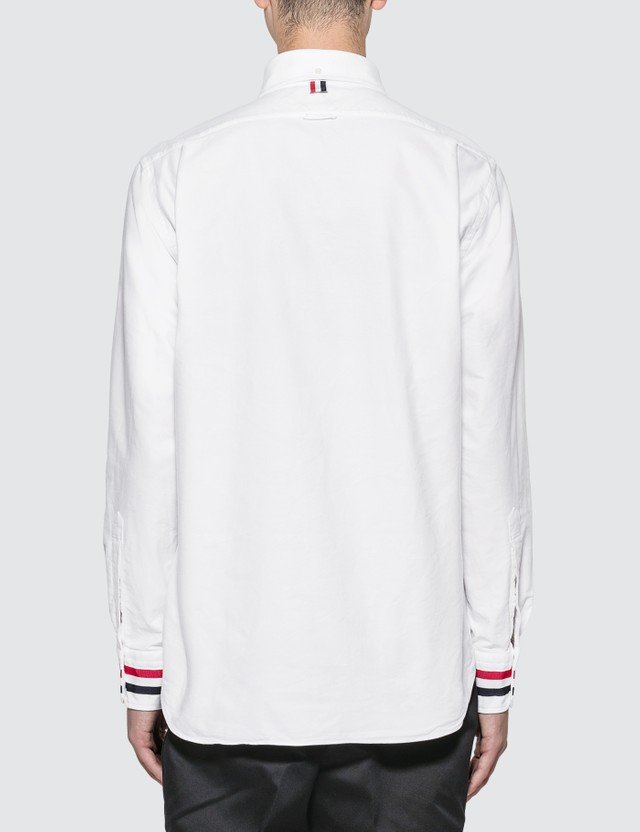 Thom Browne Grosgrain Cuff Classic Oxford Shirt