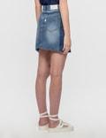 SJYP Cut Off Denim Skirt Denim Blue Women