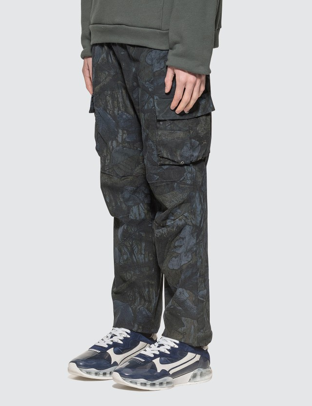 John Elliott Panorama Cargo Pants Tree Camo Navy Men