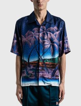 Casablanca Nuit A Maui Printed Silk Shirt
