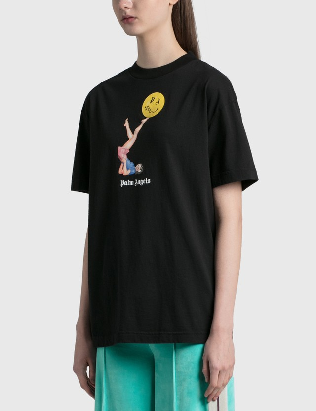 Palm Angels Juggler Pin Up T-shirt Black Pink Women