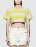 Alexander Wang.T Wash & Go Wide Stripe Cropped Top Picture