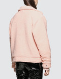 Danielle Guizio Sherpa Jacket With Removeable Hood Light Pink Women