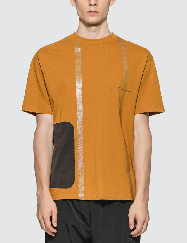 Oakley by Samuel Ross Nylon Patch Taped T-shirt Mustard Men