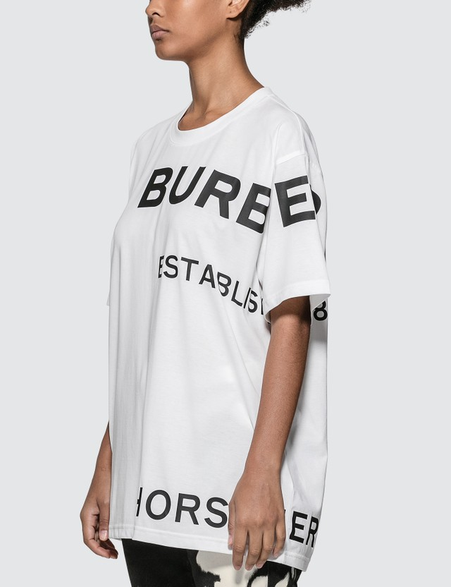 Burberry Horseferry Print Cotton Oversized T-shirt