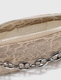 BY FAR Mini Rachel Clay Circular Croco Embossed Leather Bag Clay Women