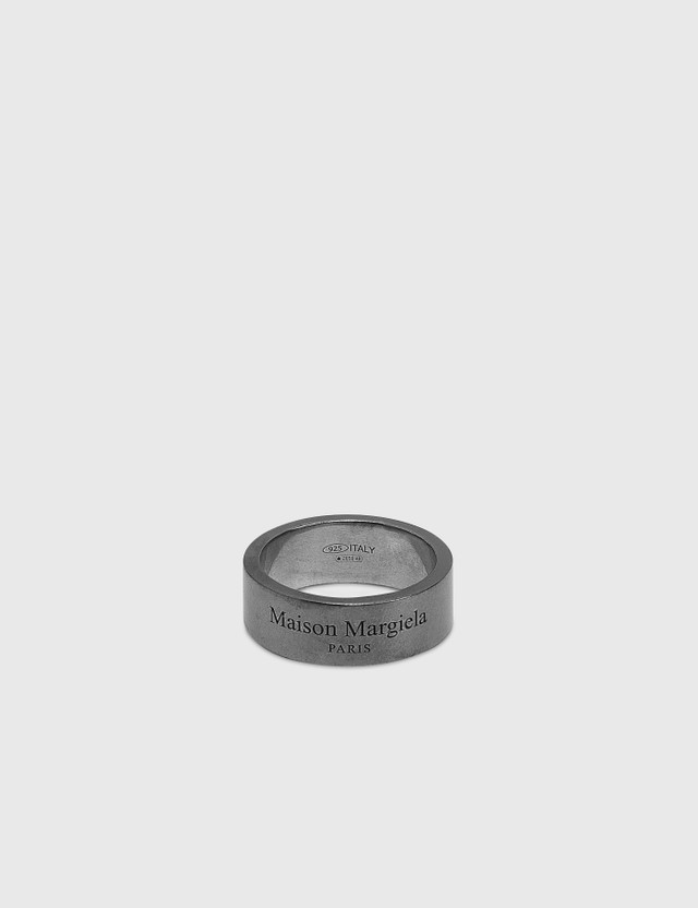 Maison Margiela Logo Slim Ring Ruteniosemipolished +palladiosemipolished Men