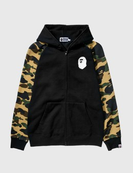 BAPE Bape Cotton Hoodie With Camo Sleeves