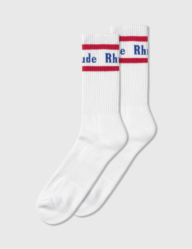 Rhude Vintage Logo Socks