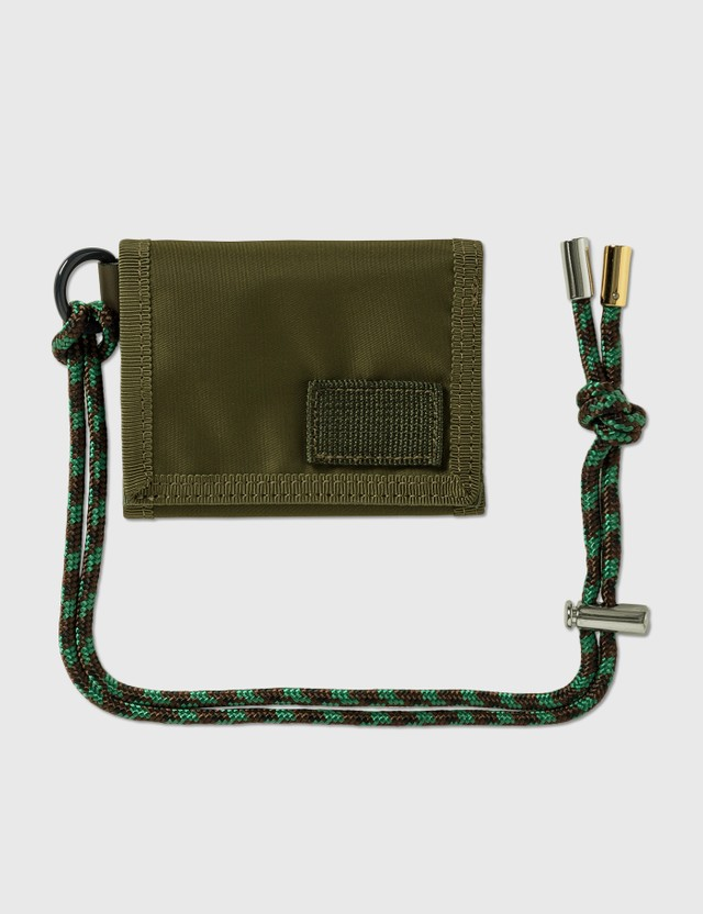 Sacai Sacai x Porter Nylon Trifold Wallet Khaki Men