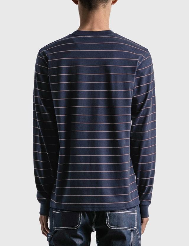 Carhartt Work In Progress Denton Long Sleeve T-shirt Denton Stripe, Space / Malaga Men